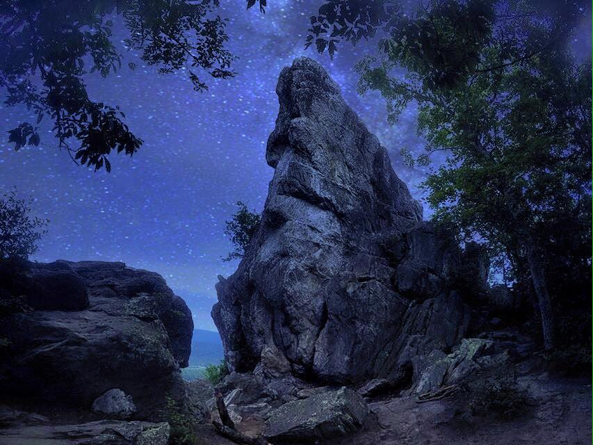 Dragon's Tooth under the stars