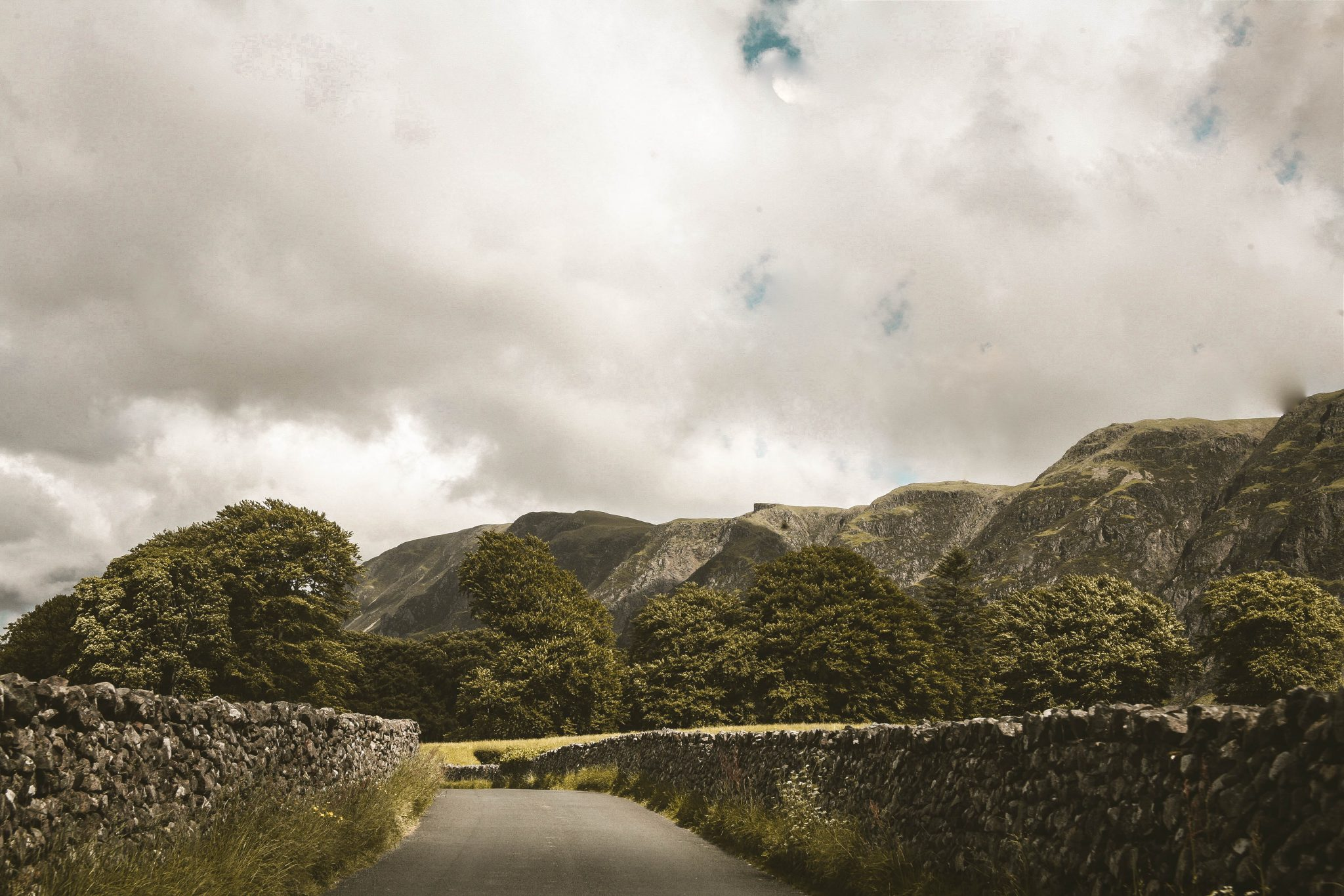 Driving through the Lake District